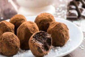 tartufi al cioccolato e vino