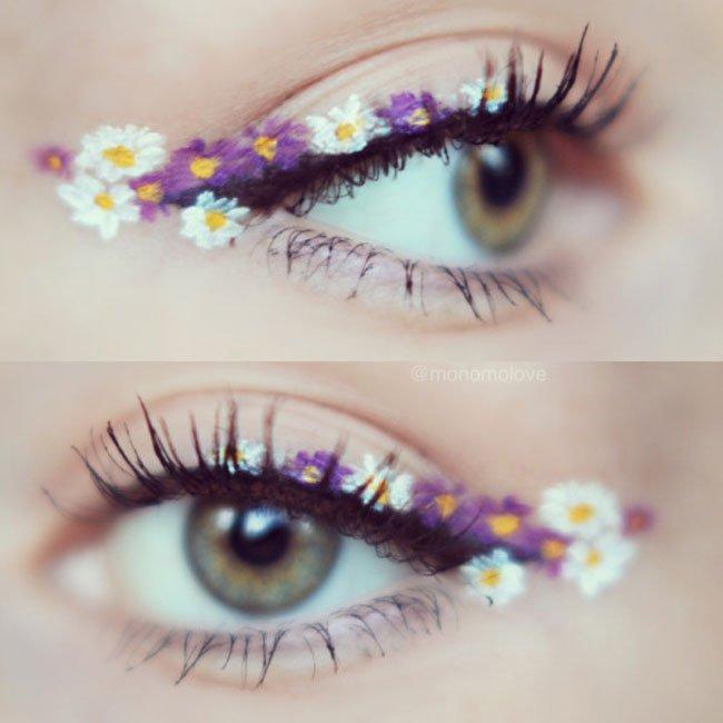 Eyeliner floreale