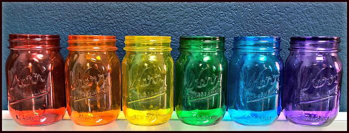 colored jar