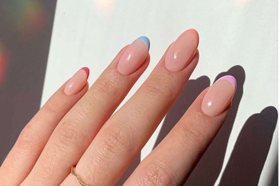 Pastel French Manicure