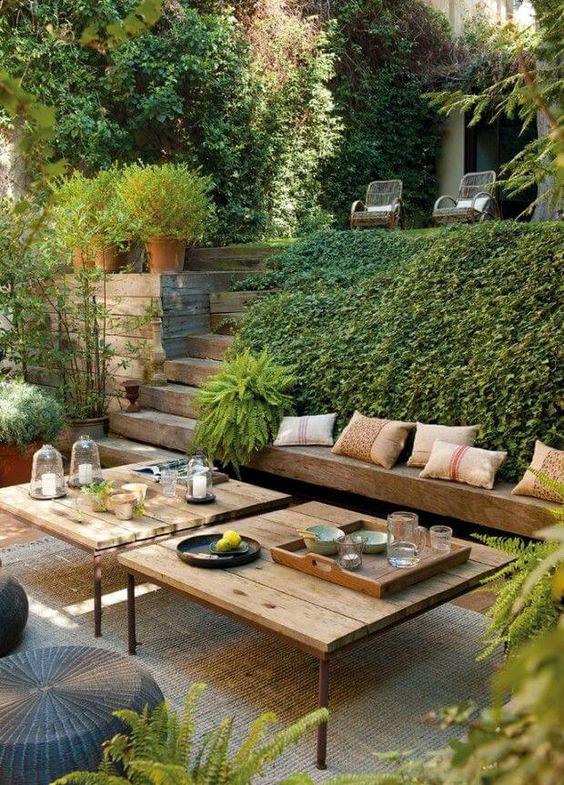 Arredare l'angolo relax in giardino
