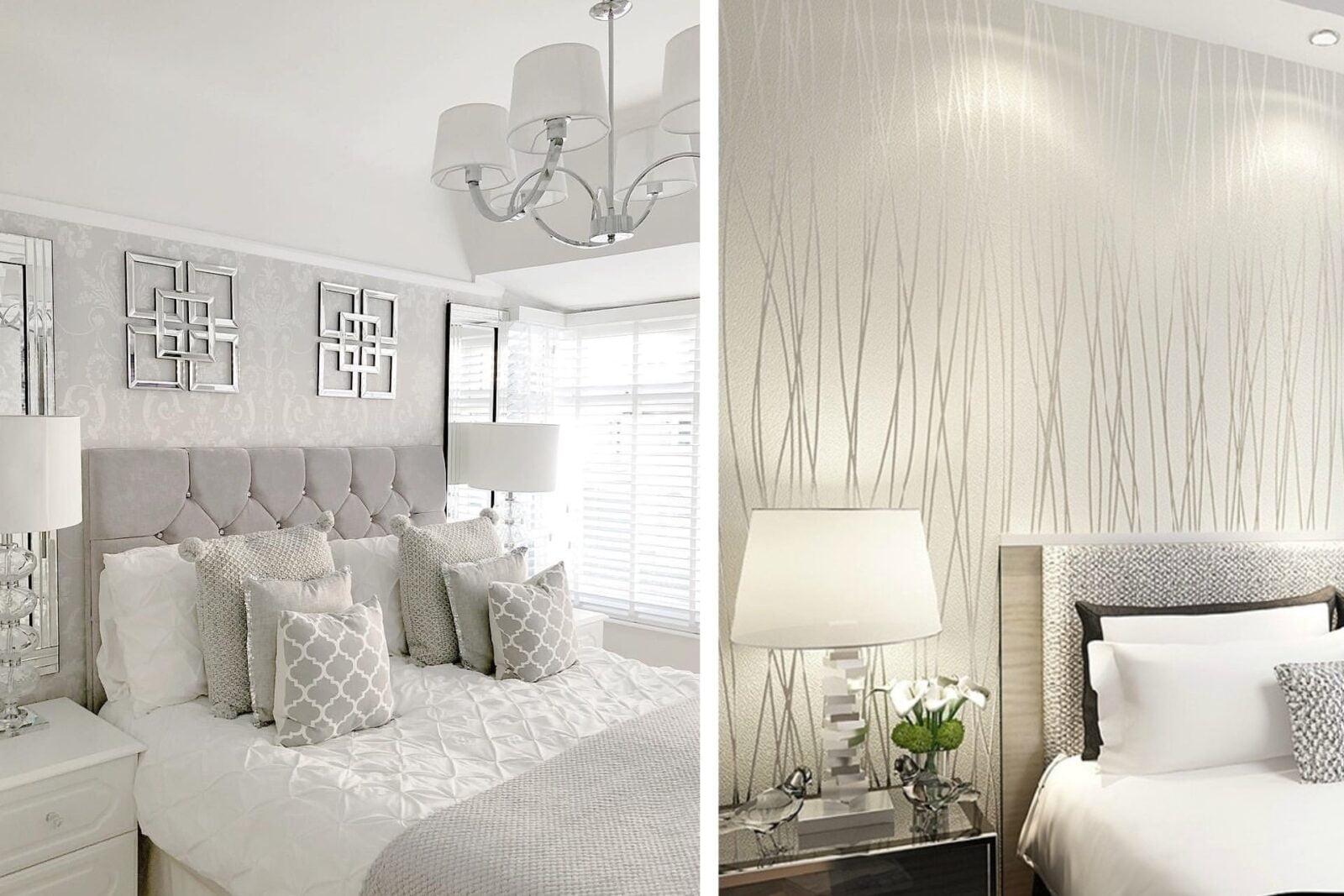 Camera Da Letto Bianca E Nera bianco e argento: alcune idee di décor per una camera da