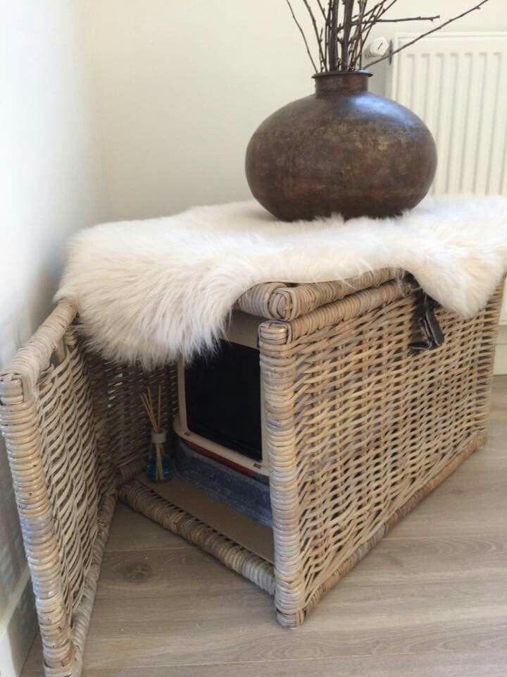 nascondere la lettiera per gatti