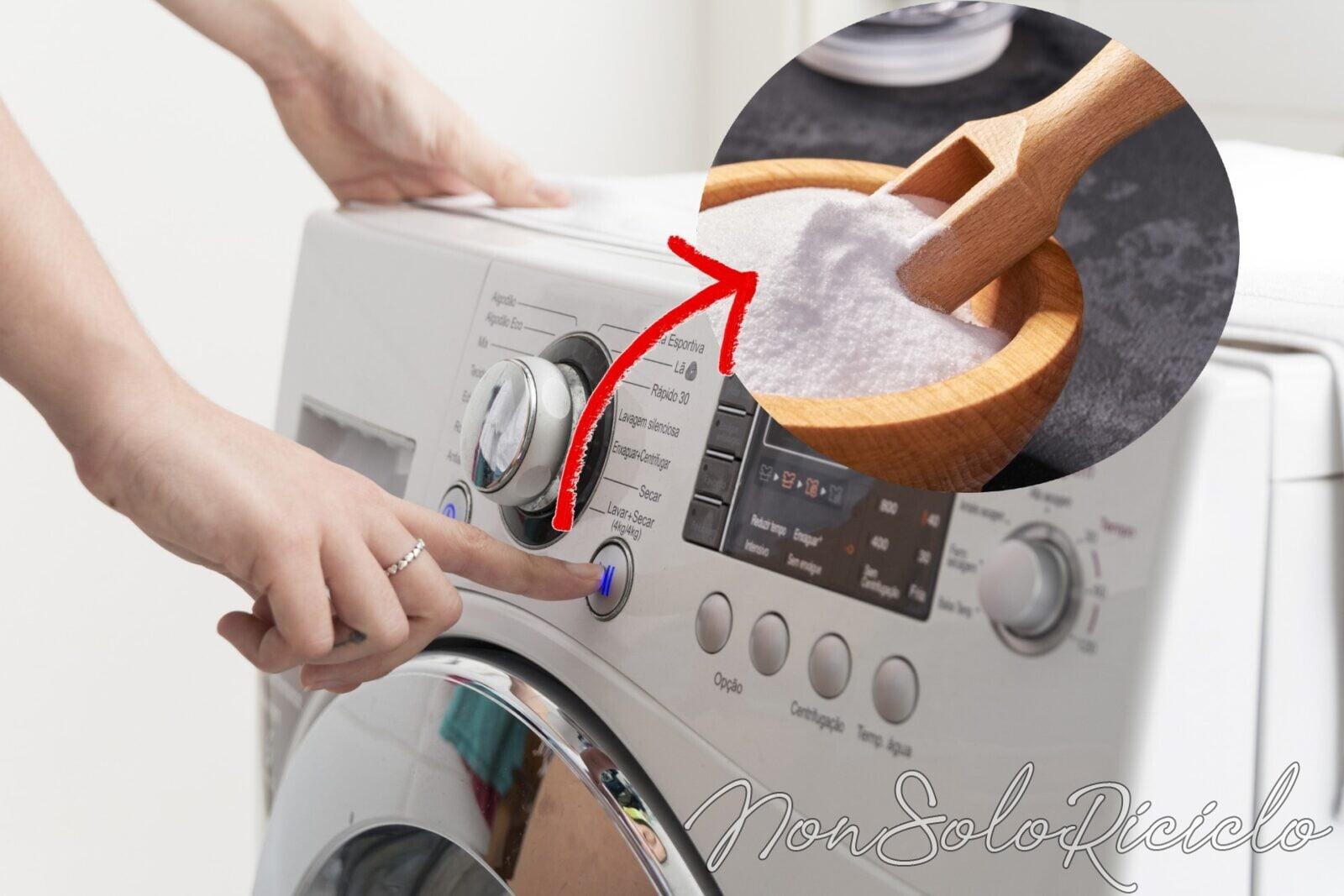 bicarbonato in lavatrice