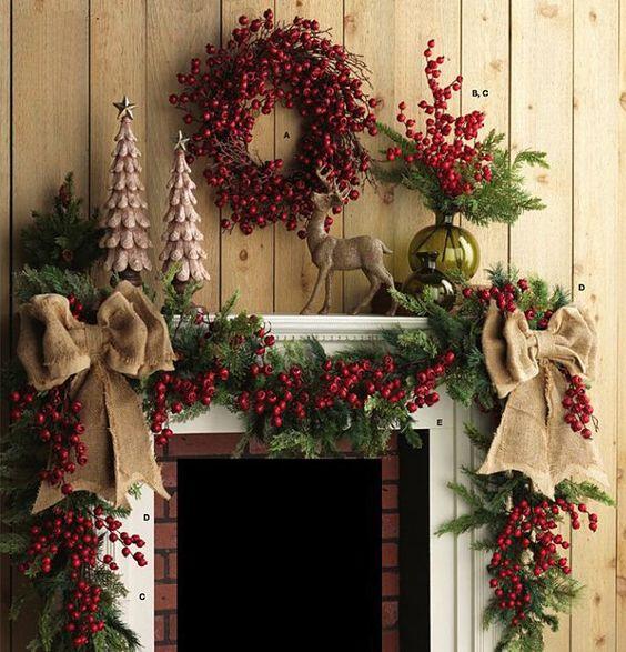 Decorare il camino per Natale: tante idee imperidibili!