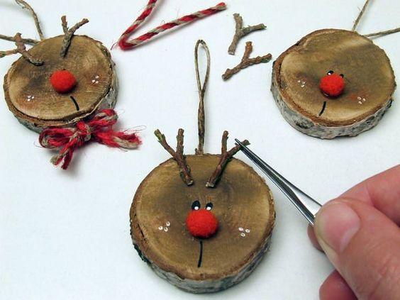 24 Decorazioni con tronchetti di legno per Natale: incredibilmente belle !