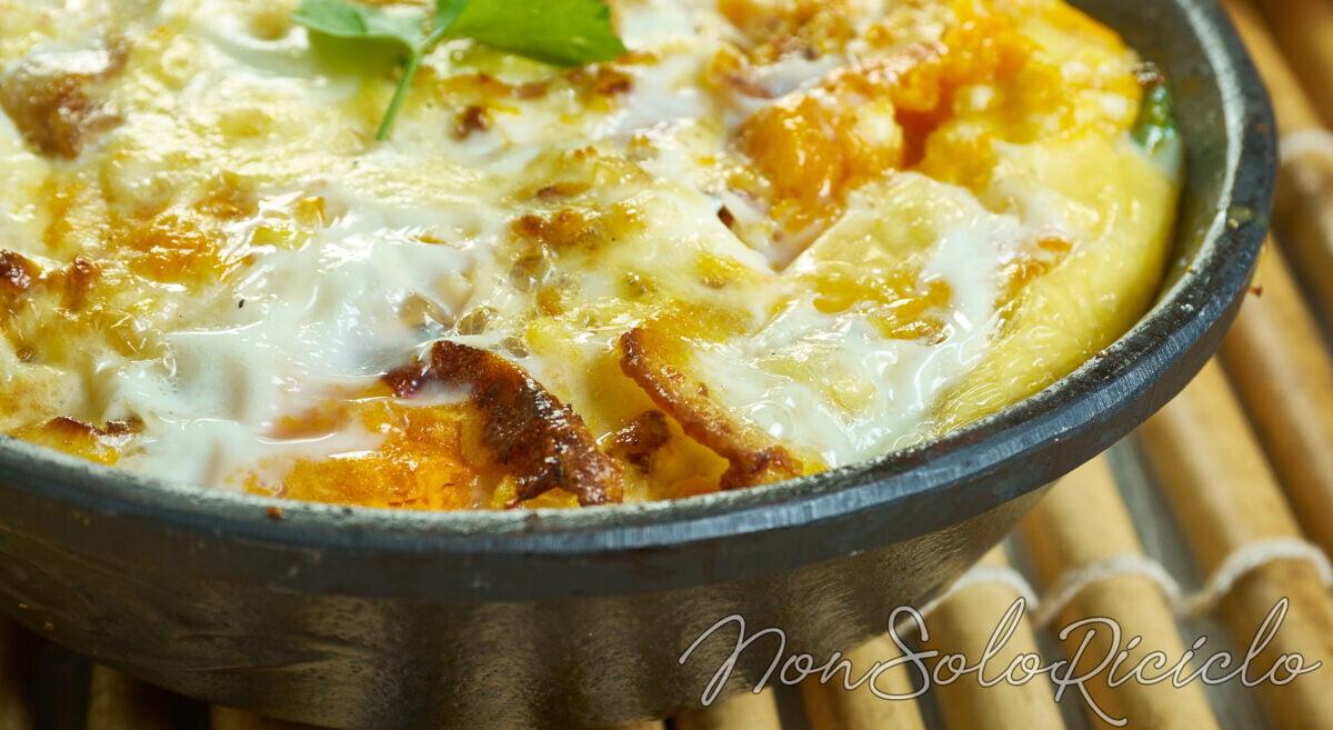 Zucca al forno con mozzarella