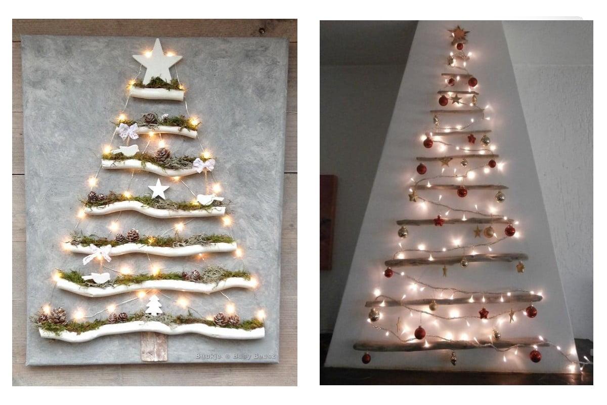 Albero di Natale da parete ma senza albero! 34 idee salva spazio!