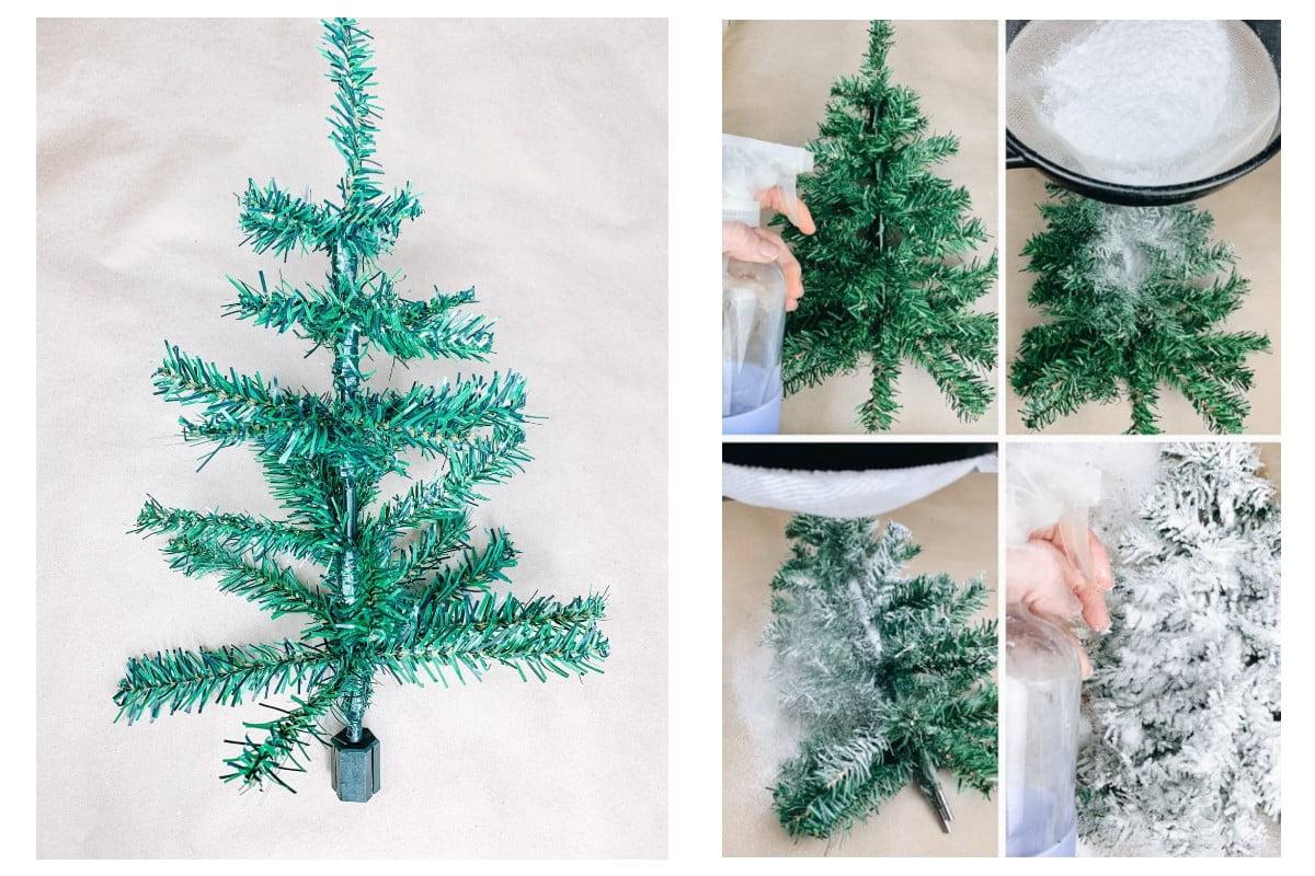 rendere folto e innevato un albero di Natale