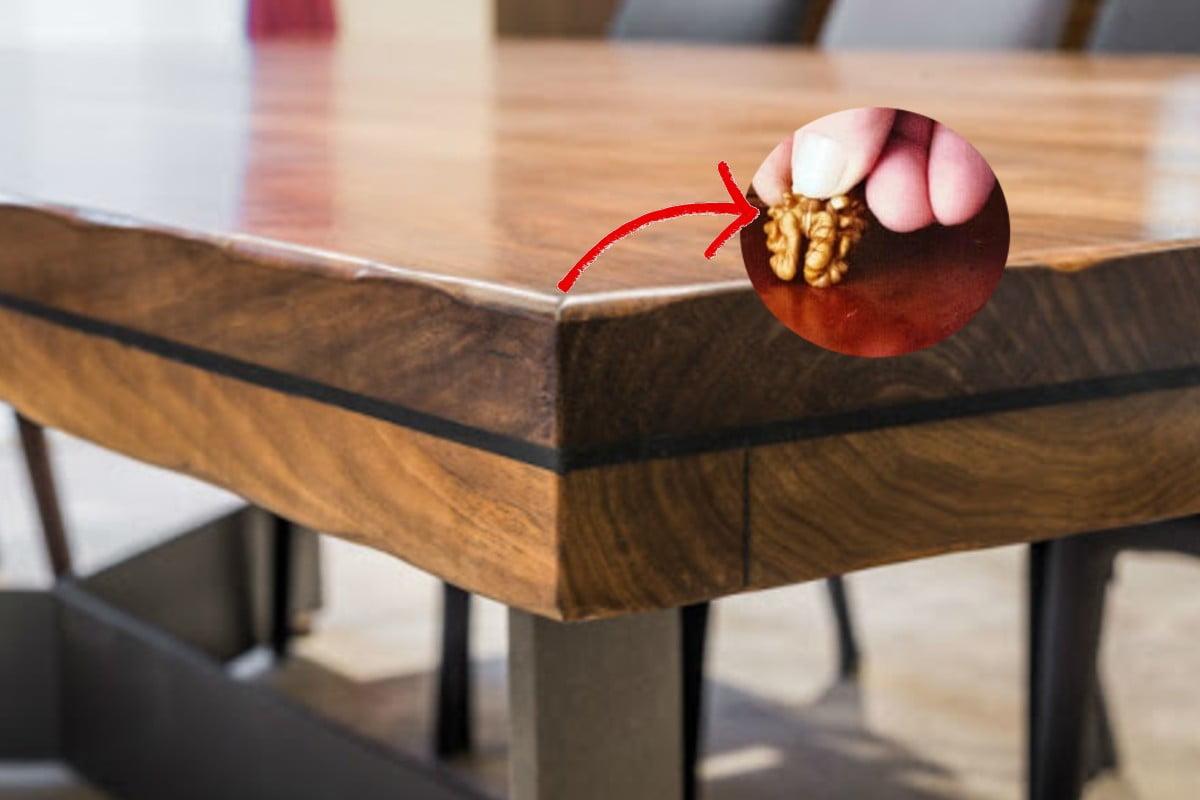 Con una semplice noce avrai il legno lucido e senza graffi!