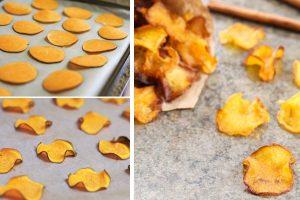 chips di zucca al forno chips di zucca