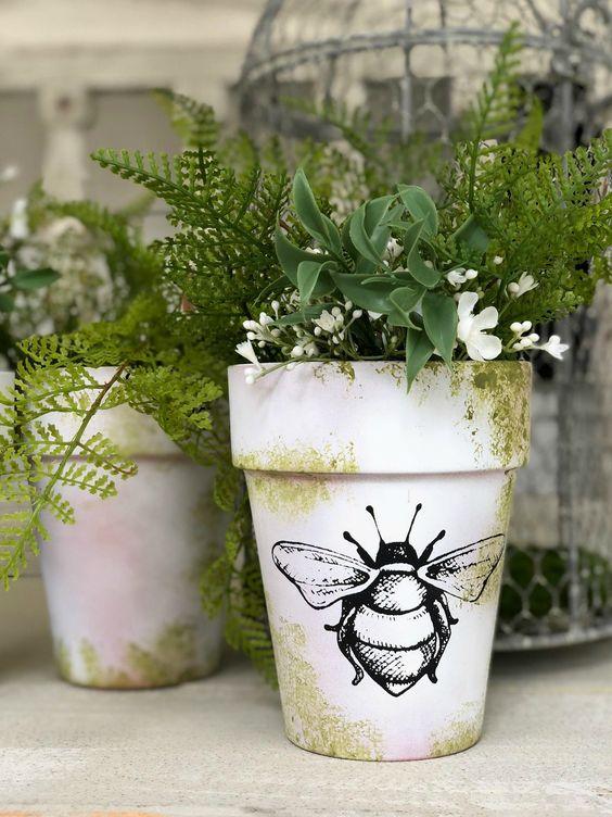 decorare i vasi dei fiori 5