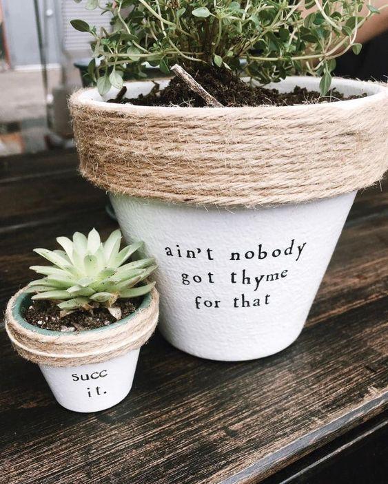 decorare i vasi dei fiori 6
