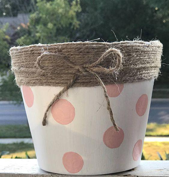 decorare i vasi dei fiori 8