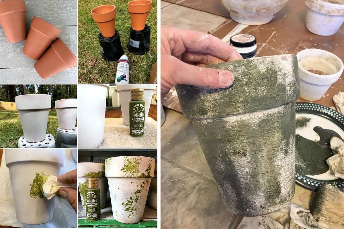 decorare i vasi dei fiori decorare i vasi