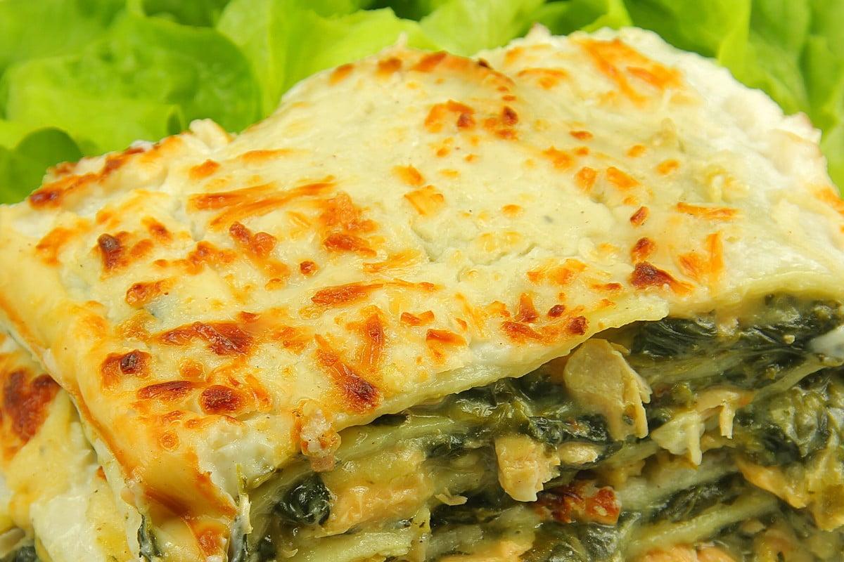 Ricetta Lasagne Vegane.Lasagne Vegane Con Scarola Funghi Olive E Noci