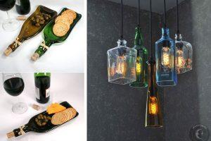 lavoretti creativi con le bottiglie bottiglie vetro