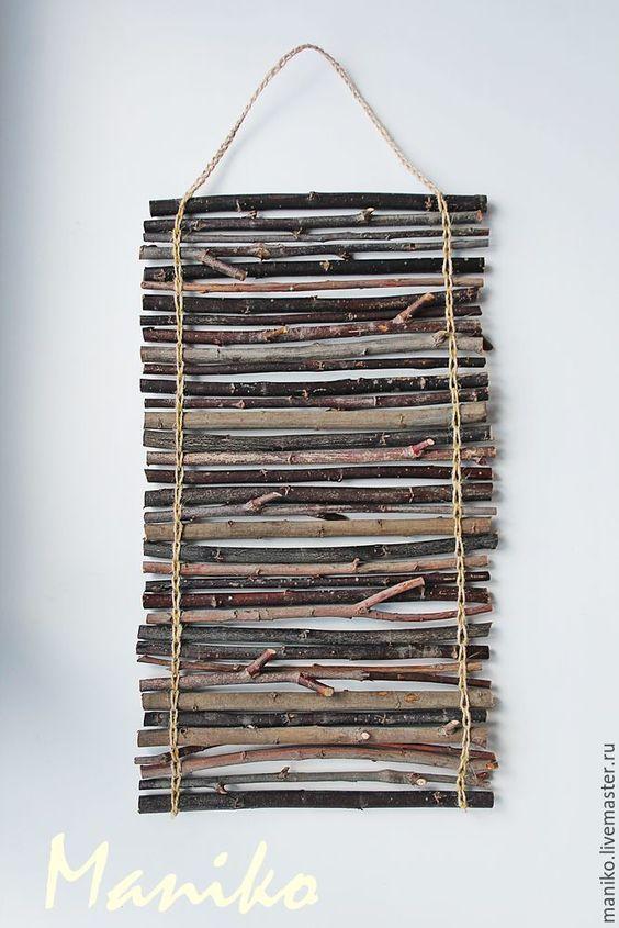 riciclare rametti di legno per 2