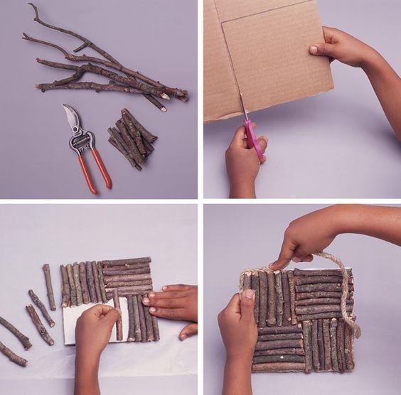 riciclare rametti di legno per 5 1