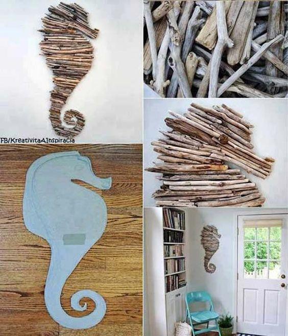 riciclare rametti di legno per 9