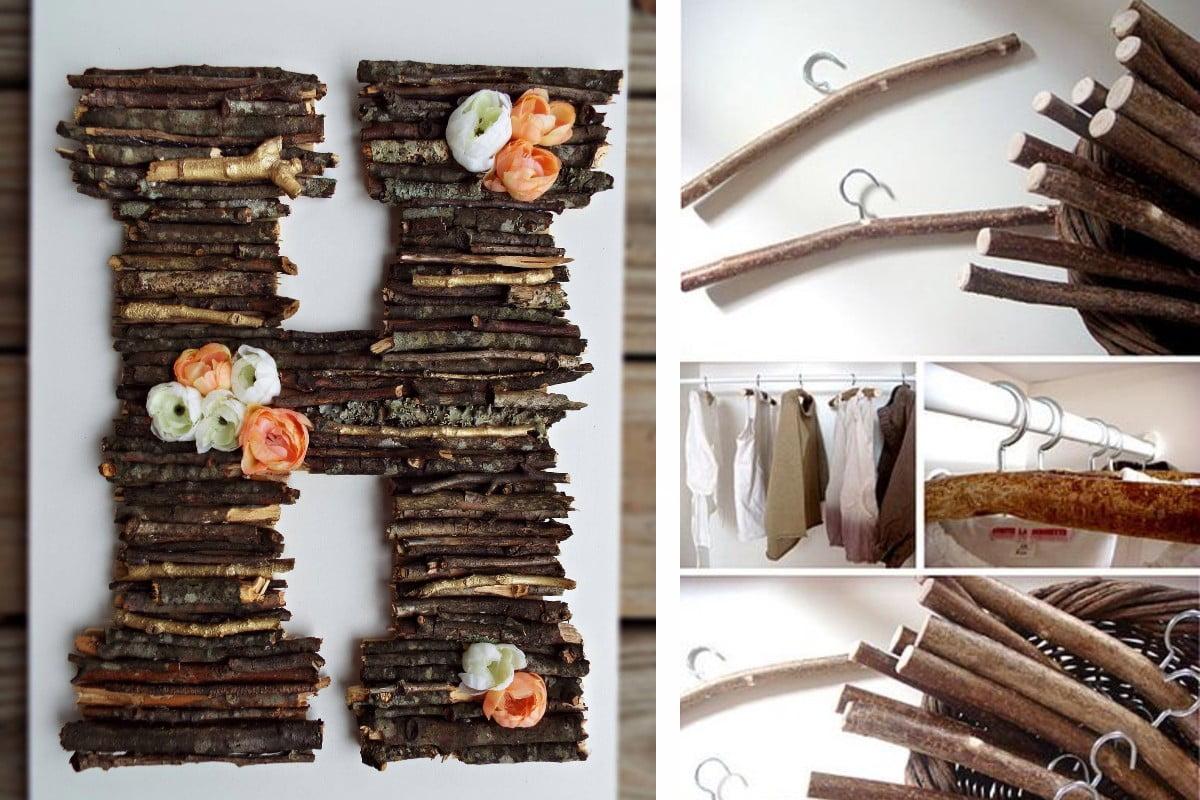 riciclare rametti di legno per rametti di legno