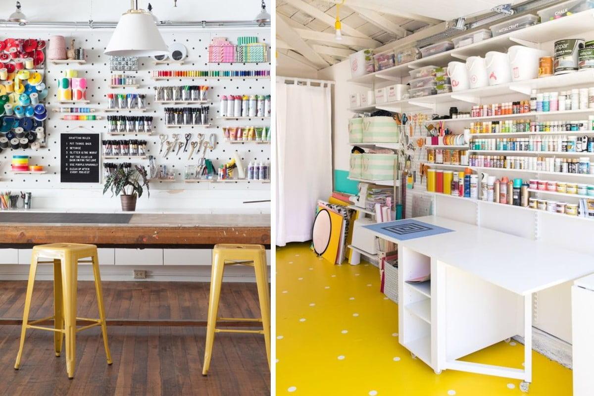 trasformare il garage in craft Trasformare il garage in craft room
