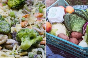 verdure surgelate o verdure fresche verdure
