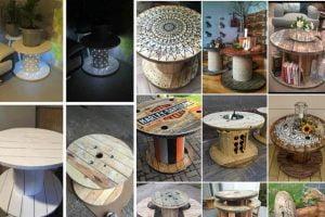 riciclare bobine in legno ispirazioni bobine legno