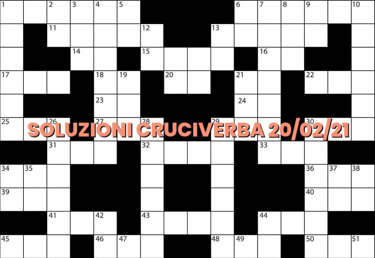 soluzioni cruciveba02 20 2021