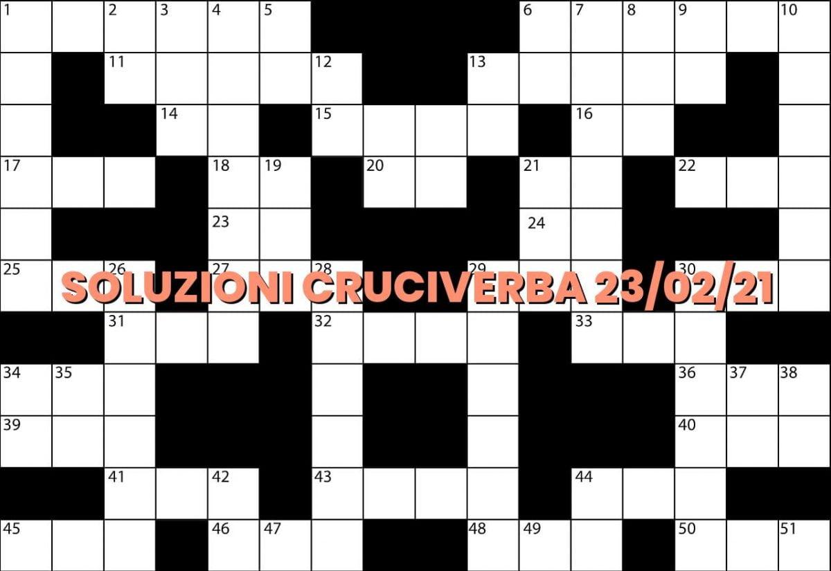 soluzioni cruciveba02 23 2021