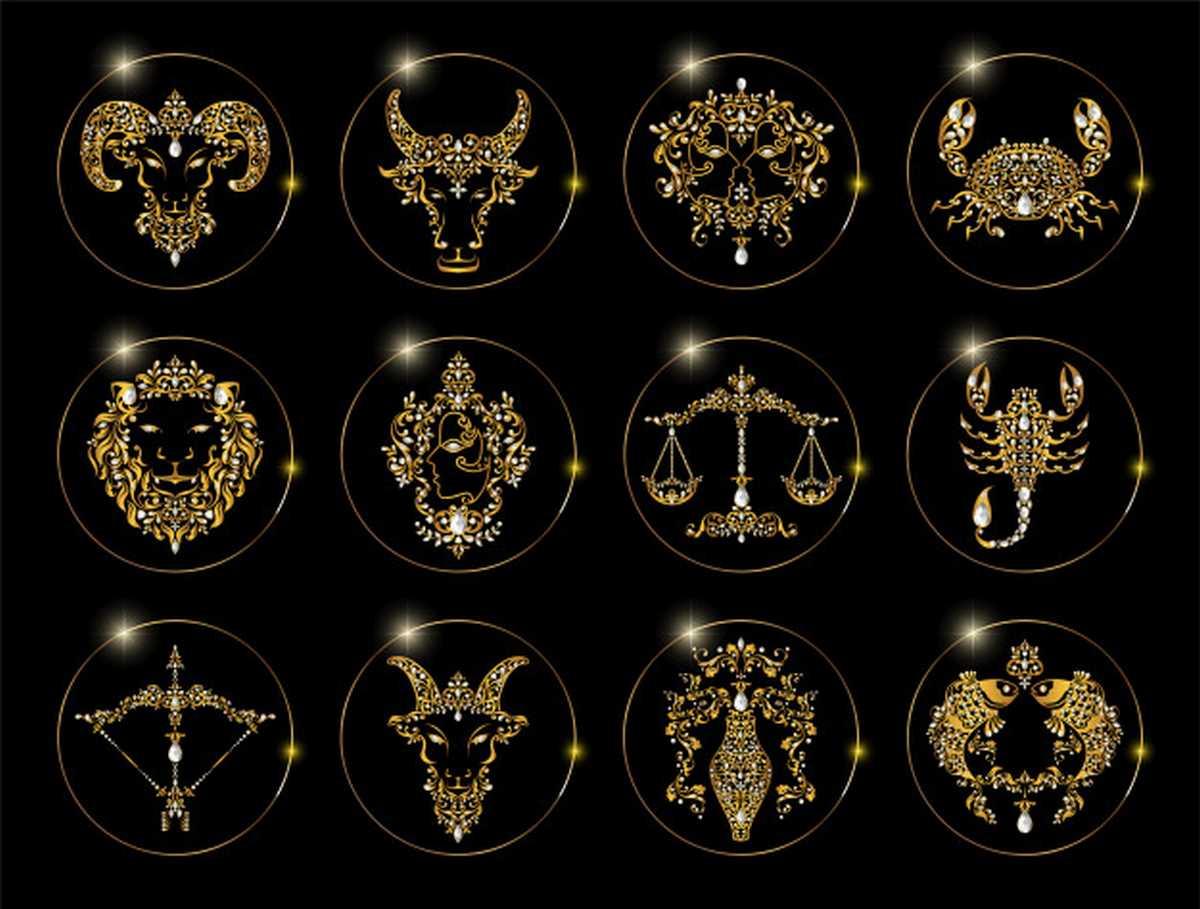loroscopo di marzo segno per zodiac signs set horoscope symbols astrology icons collection 38689 7