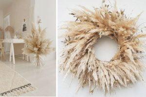 decorare casa con pampas grass decorazioni fai da te
