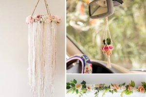 lavoretti creativi con fiori e decorazione con fiori finti