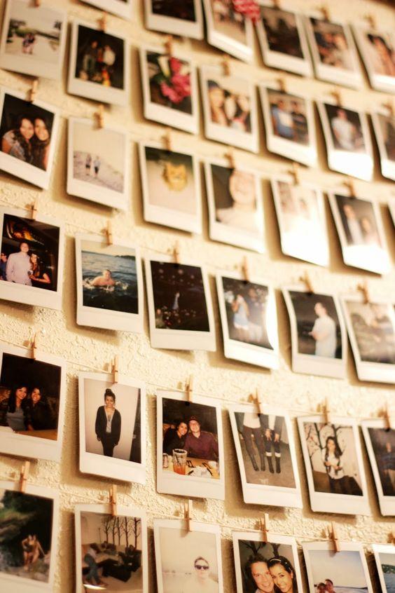 pareti decorate con polaroid ecco 7