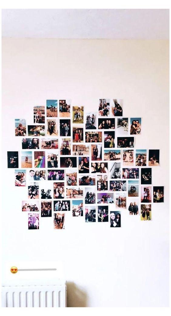 pareti decorate con polaroid ecco 9