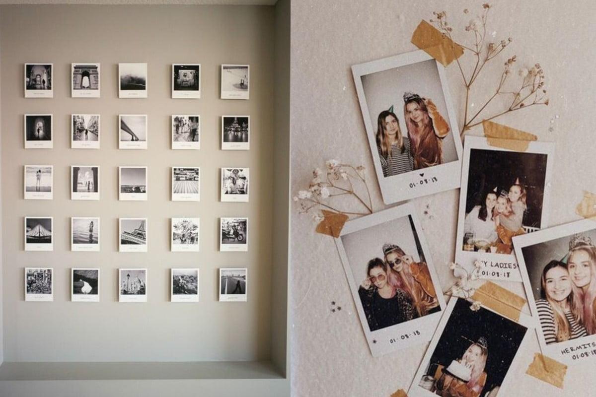 pareti decorate con polaroid ecco foto alle pareti