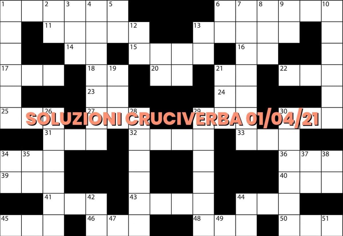 soluzioni cruciveba04 01 2021