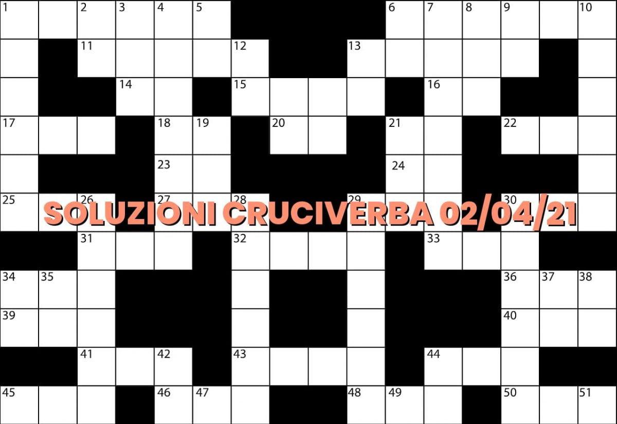 soluzioni cruciveba04 02 2021