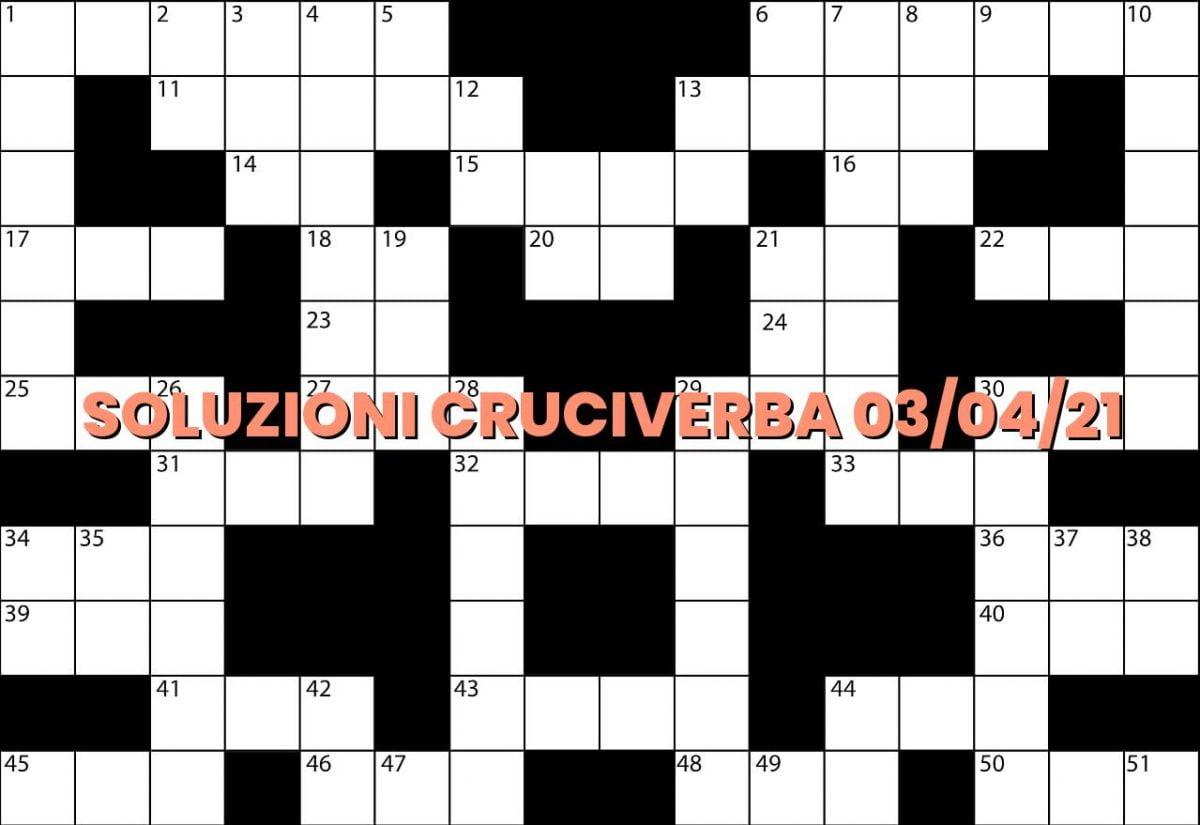 soluzioni cruciveba04 03 2021