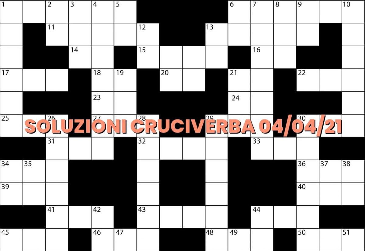 soluzioni cruciveba04 04 2021