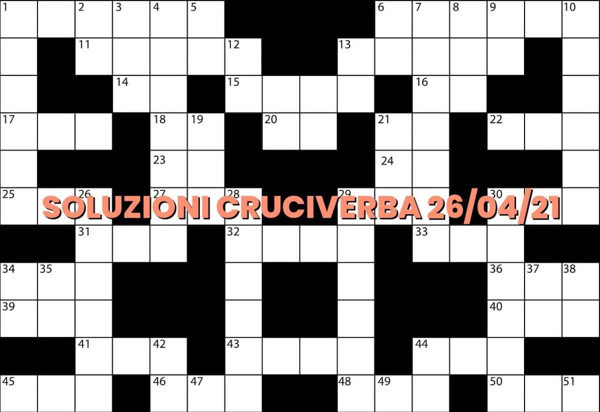 soluzioni cruciveba04 26 2021