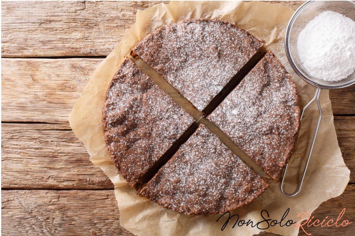 torta integrale al cioccolato con 5
