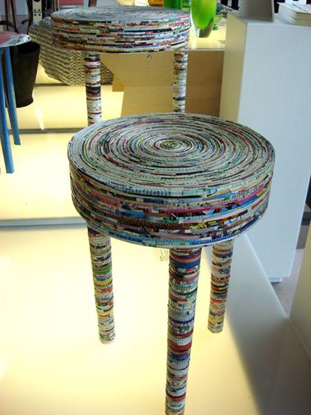 Riciclo creativo con vecchi giornali
