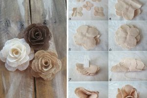 realizzare rose di stoffa ecco fiori di stoffa