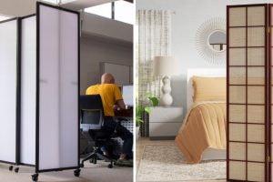 utilizzare il paravento per organizzare separare gli ambienti con il paravento