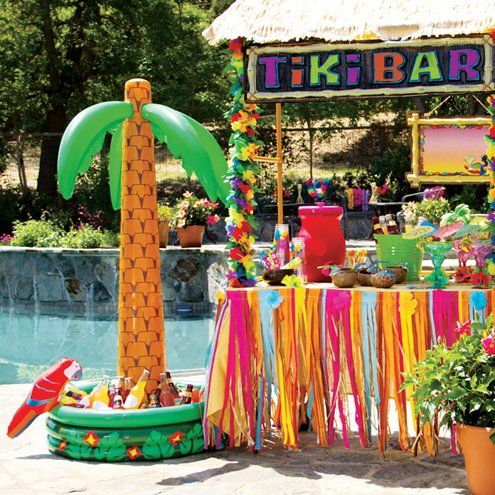 decorazioni tropicali per una festa 6