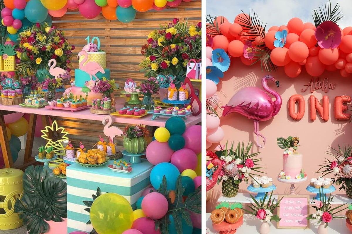 decorazioni tropicali per una festa idee party estivi