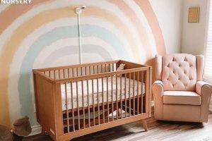parete in stile boho per camerette per neonati