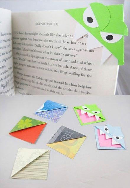segnalibri di carta semplicissimi e 8