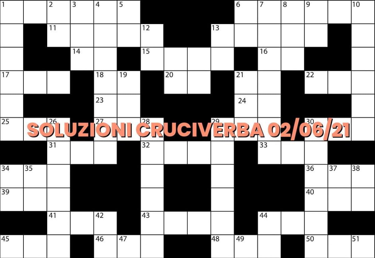 soluzioni cruciveba06 02 2021